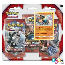 Pokemon TCG 3-pack blister promo Sun & Moon Crimson Invasion