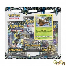 Pokemon TCG 3-pack blister promo Sun & Moon Lost Thunder